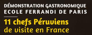 Demostración gastronómica en la Escuela Ferrandi de París por 11 chefs peruanos