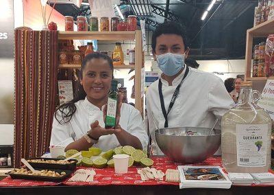 La chef Verónica Moreno Restaurante Strret Food Krioya Lyon en el Festival Omnívoro 2021