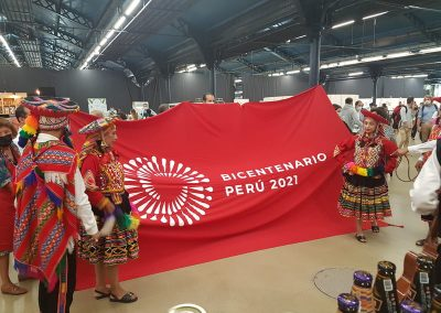Inauguración del stand de Perú en el Festival Omnívoro 2021
